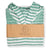 AYVALIK ECOFIENDLY STRIPED PONCHO MADE 100% FROM UPCYCLED COTTON (GREEN)