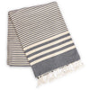 Fethiye Striped Ultra Soft Eco-Friendly Towel Navy Blue