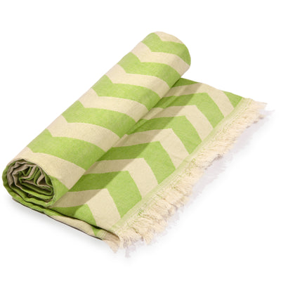 Mersin Eco-friendly Ultra Soft Chevron Towel Green