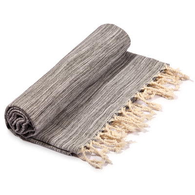 Yalova Eco-friendly Ultra Soft Marbled Towel Black