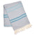 Antalya Striped Eco-friendly Spa/Beach Turkish Towel - Turquoise
