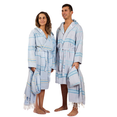 Antalya Unisex Eco-friendly Bathrobe  - Turquoise