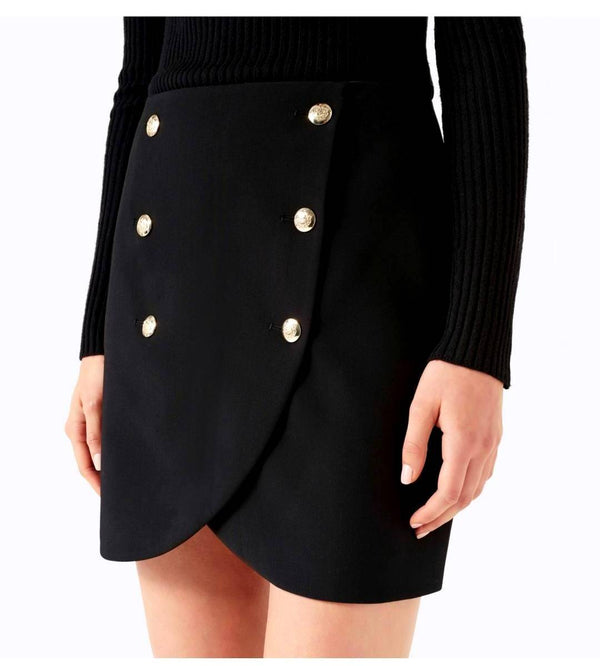 Forever New Abigail Military Wrap Mini Skirt