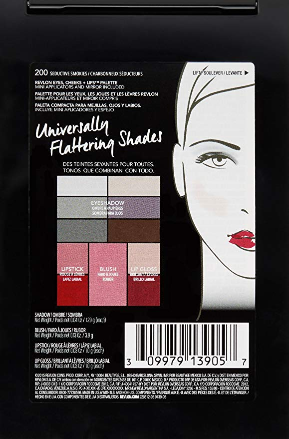 Revlon Eyes Cheeks & Lips Palette, 200 Seductive Smokies