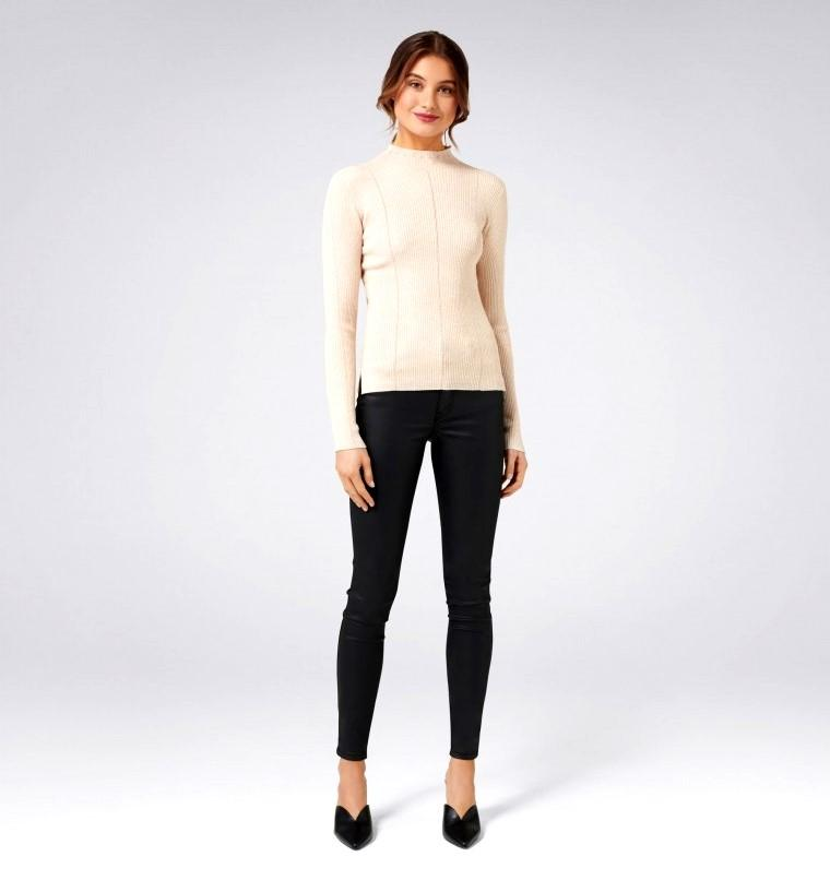 Forever New Aspen Metallic Champagne Sweater