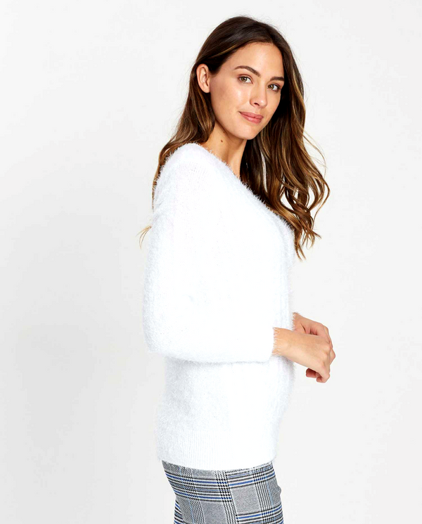 Dorothy Perkins Fluffy V Neck Cable Sweater
