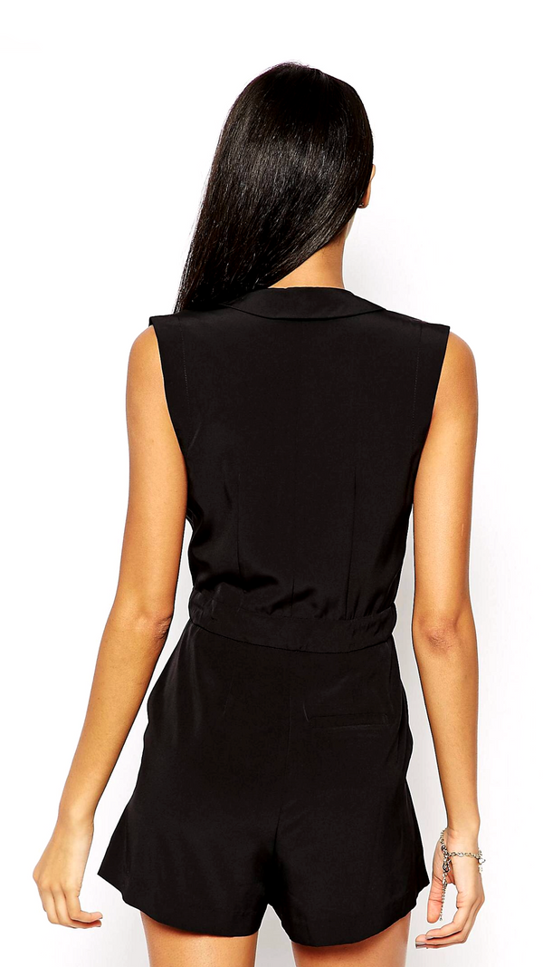 ASOS Wrap Front Playsuit with Tie Waist