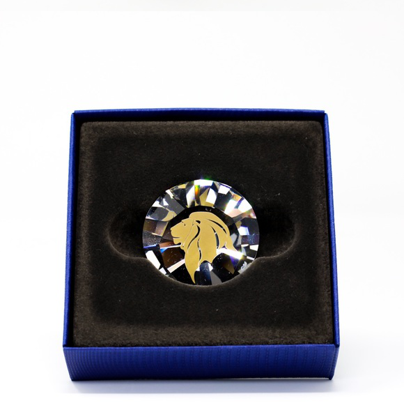 Swarovski Crystal Lions Head Chanton