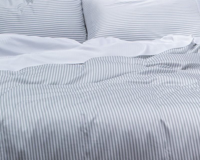 100% Organic Bamboo Quilt Cover Queen Size - STRIPES