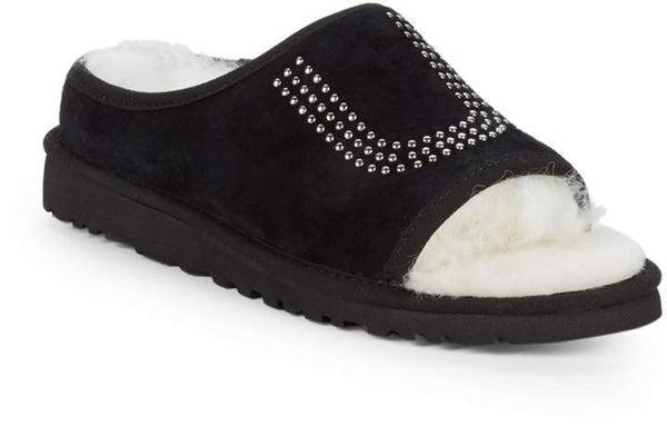 UGG Studded Dyed Shearling Slide Slippers
