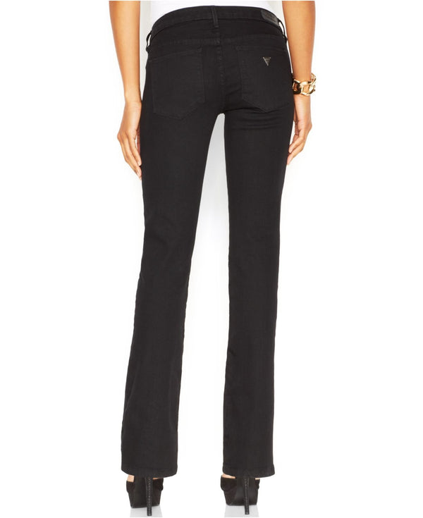 GUESS Mid-Rise Bootcut Jeans with Black Silicone Rinse