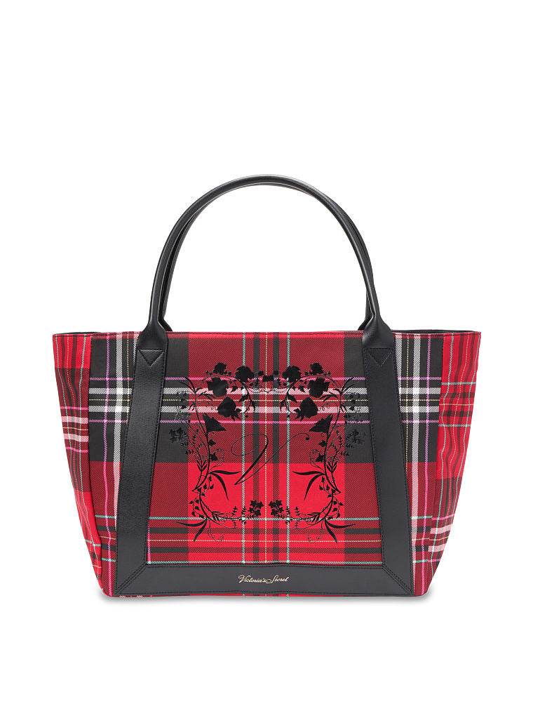 VICTORIA'S SECRET Plaid Tote