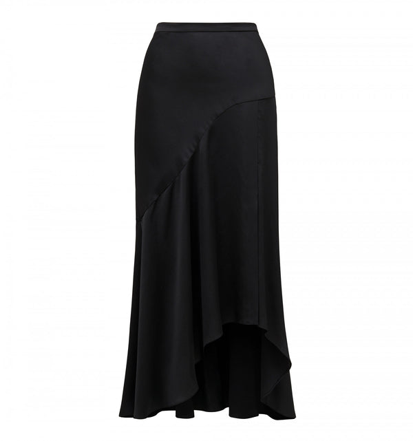 Forever New Andrea Asymmetric Split Skirt - Black