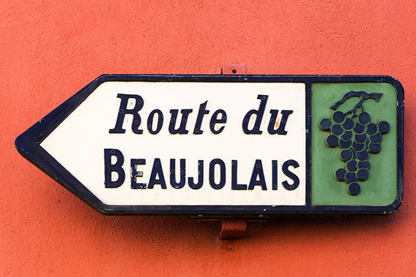 The wine route sign in Beaujolais.