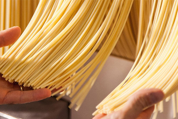 The main difference between dry and fresh pasta is the ingredients.
