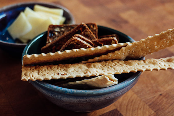 A bowl of mixed crackers are a great vehicle for flavor.