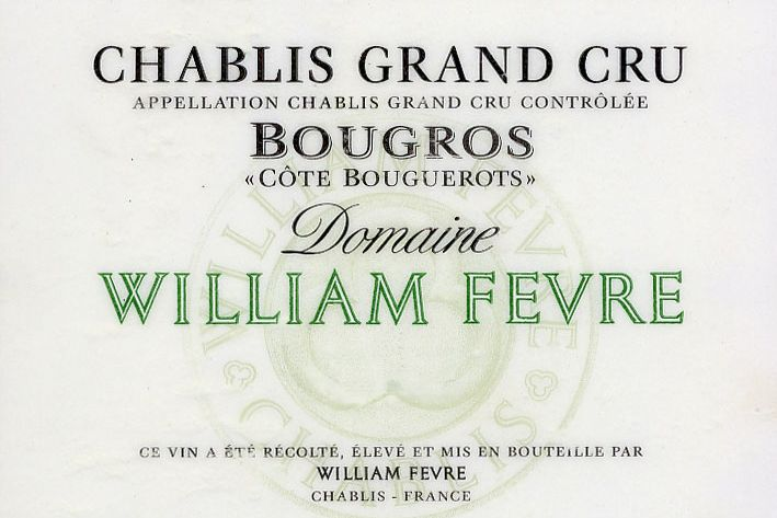 2017 William Fèvre Chablis Grand Cru Côte de Bouguerots (PRE-ARRIVAL)