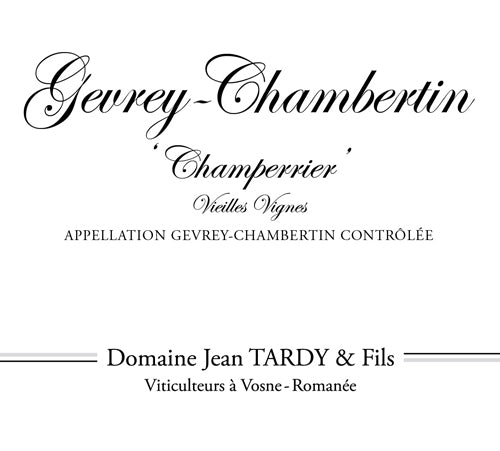 2013 Jean Tardy Gevrey Chambertin Champerrieres  VV