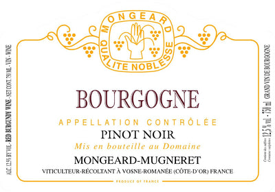 2018 Mongeard Mugneret Bourgogne Rouge Eta next week