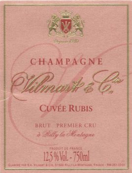 NV Vilmart & Cie Champagne Premier Cru Cuvee Rubis [Pre-arrival] Available to ship -2-8-2021