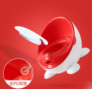 Fashional Baby Potty Toilet Cute Cartoon Training Toilet Seat Children Portable Urinal Comfortable Backrest Pot Free Potty Brush