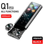 QCR Q1 Wireless bluetooth earphone earbuds Multi-function MP3 Player Headest IPX7 Waterproof 9D TWS Headphone 6000mAh Power Bank