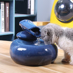 Ceramic Pet Drinking Fountain Dispenser