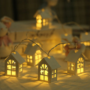 10pcs Led Christmas Tree House Lights Christmas Decorations For Home