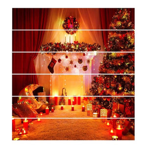 6pcs Wall Stair Stickers Christmas Home Decoration