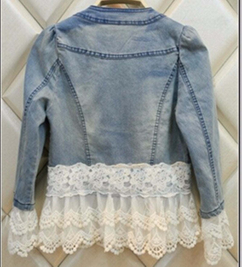 Pearl Beaded Denim Jacket