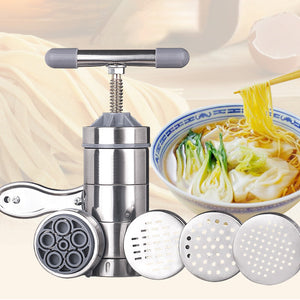 Stainless Steel Pasta Noodle Machine With Molds