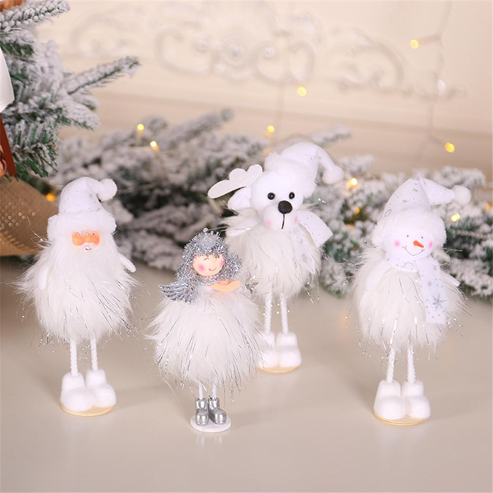 Ballerina Christmas Cute Ornaments Silver Silk Plush Standing Posture Doll