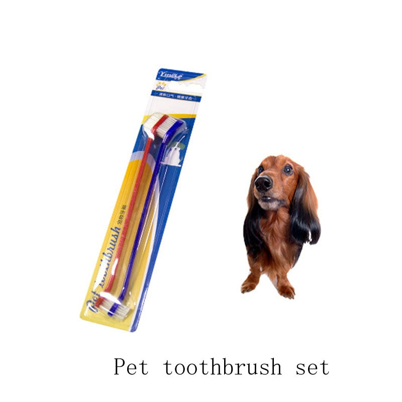 2pcs Eco Friendly brush oral cleaning care tools for dog cat