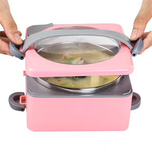 Creative Portable Hot Water Heating Lunch Box