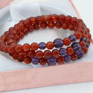 Red Agate Stone Yoga Bad Energy Shield