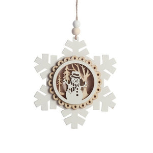 Wooden Light Up Christmas Ornament