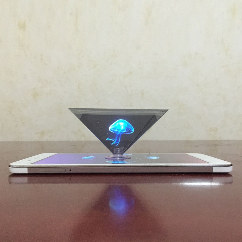 3D Hologram Pyramid Display Projector for Smart Phone