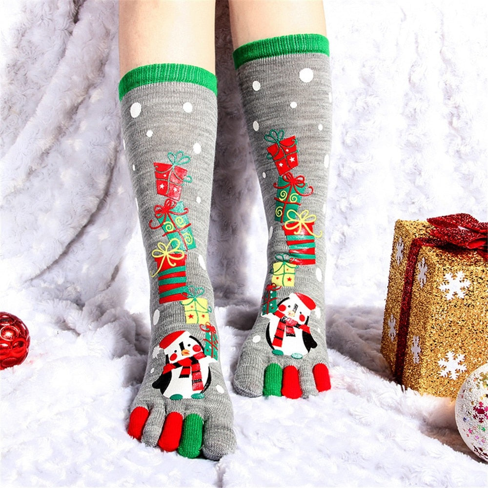 Women Funny Cartoon Printed Toe Sock