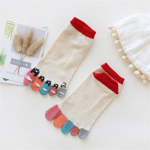 Toe Cotton Funny Socks  Y909