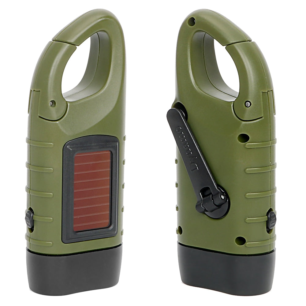 Solar Power Portable LED Flashlight
