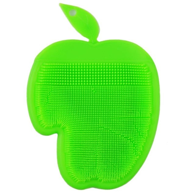 Apple Shape Silicone Dish Bowl Cleaner