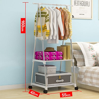 Clothes Hanging Rack  with Wheels