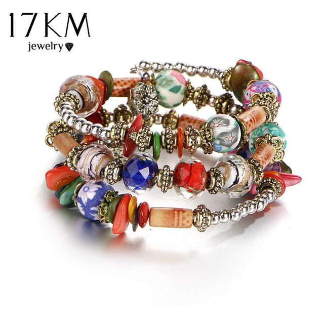 Boho Multilayer Beads Charm Bracelets