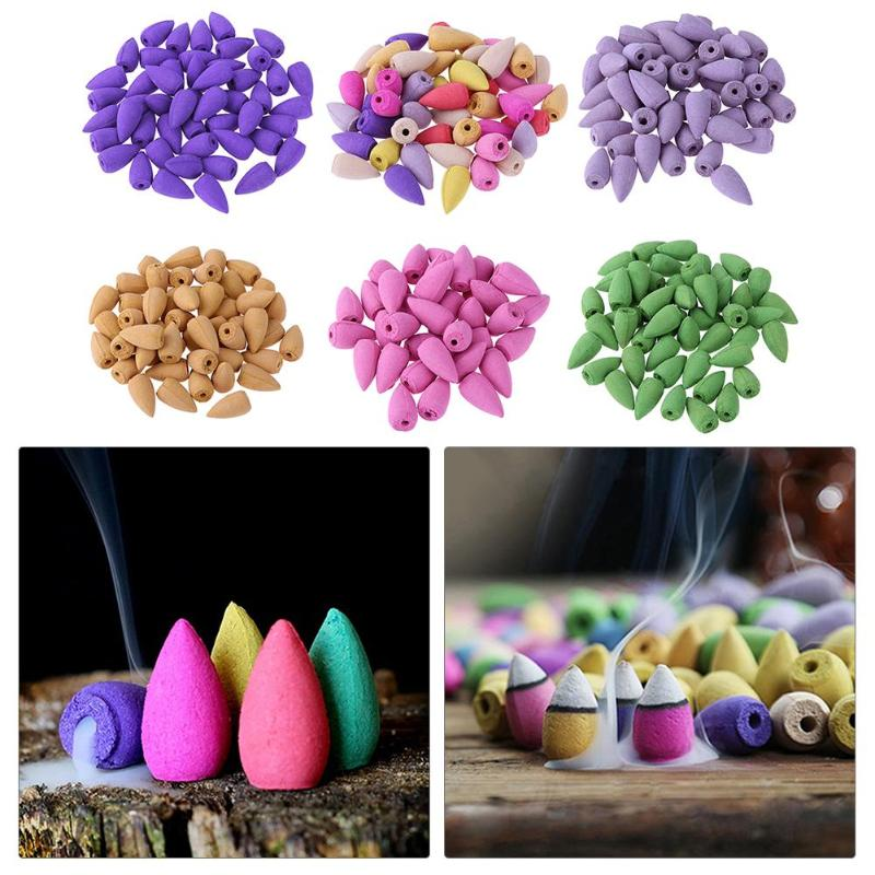 20PCS Floral Incense Cone Yoga