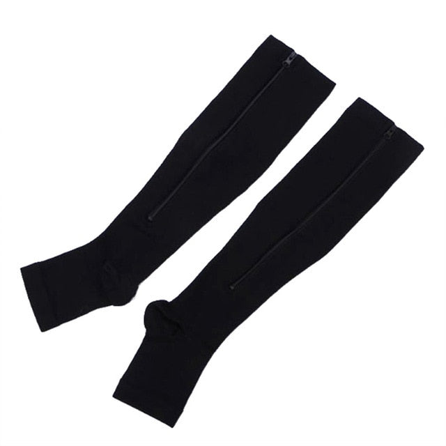 Soft Zip Anti-Fatigue Compression Medical Socks