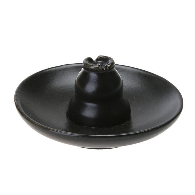 Ceramic Incense Burner for Miniature Figurines Yoga