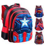 Superman Batman Spiderman Captain America Kindergarten Backpacks