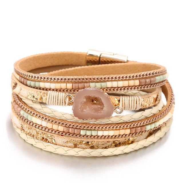 Leather Multiple Layers Bracelet