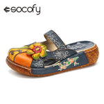 Socofy Casual Vintage Flat Shoes