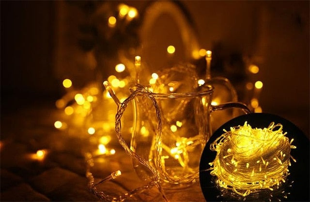 Christmas String Light Outdoor Garland